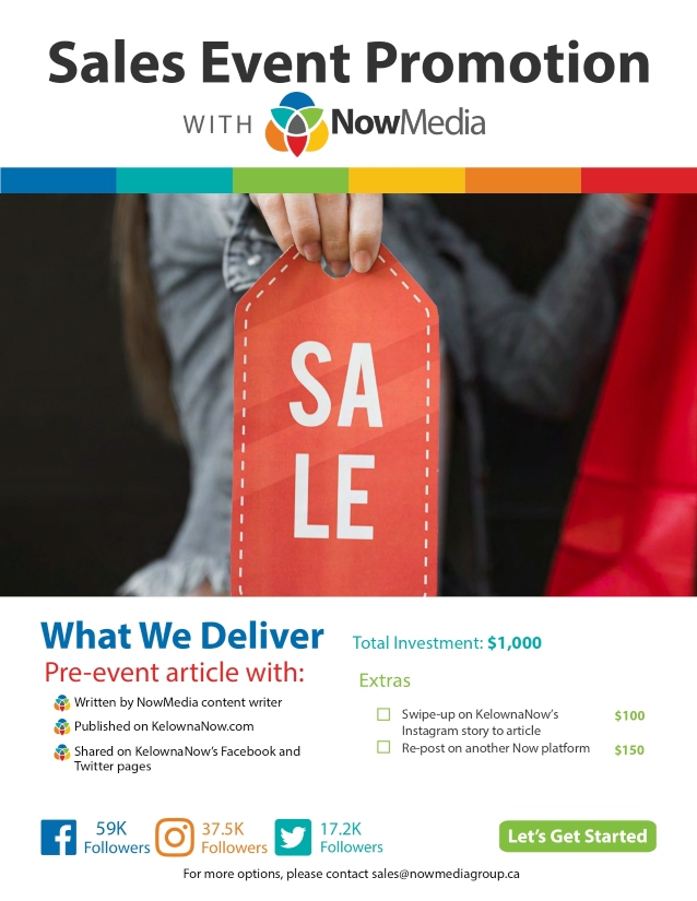 NowMedia Group sales event promotion