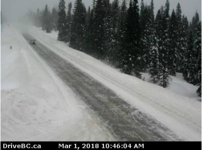 Highways to and from Prince George experiencing hazardous