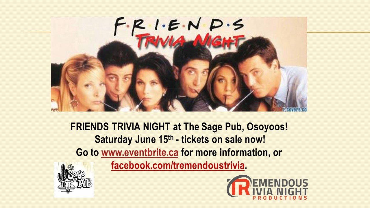 Friends Trivia Night at Sage Pub Osoyoos!