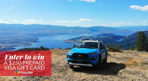 Going Out of Office with Kelowna Toyota to the top of Blue Grouse Mountain in a RAV4