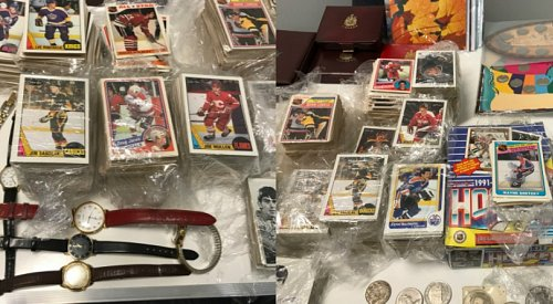 Police looking to reunite found collection of coins and vintage hockey cards with rightful owner